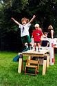 Tim, aged 4 or 5, showing his athletic inclinations. (Friend Sam Alberg is behind him).