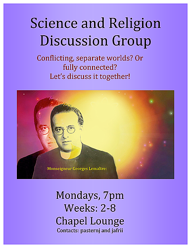 Science and Religion Discussion Group   Religious Life   Carleton
