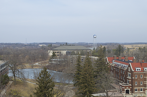 Evans, the Rec, and Lyman Lakes as seen from the roof of Watson