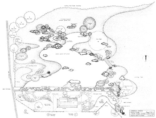 Sketch Of Japanese Garden