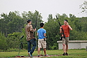 Members of Carleton's trapshooting club practice at the Minneapolis Gun Club.