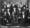 Carleton faculty from 1902 including Horace Goodhue, Lucian W. Chaney and Isabella Watson.