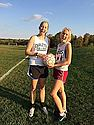 Laura Westneat '16 and Katarina Swanson '15 posing during a practice.