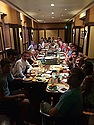Fall 2014 -- family dinner w/ Men's Club Soccer!