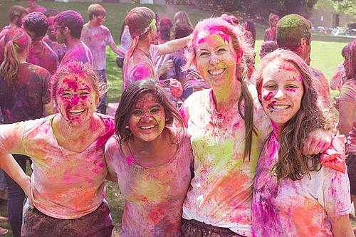 Holi at Carleton College hosted by MOSAIC