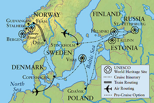 Baltic Sea 2016 itinerary map