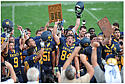 Carleton football celebrated this fall after their win over Macalester