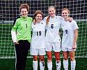 "The ""Core Four"" of senior women's soccer. Photo by Madeline Horn."