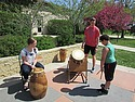 Carleton's West African Drum Ensemble at Prairie Creek Elementary.