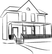 Line drawing of TRIO house