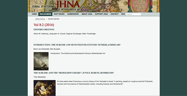 Journal of Historians of Netherlandish Art