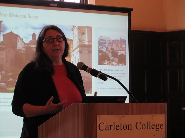 "Professor of History Victoria Morse presents her digital project, ""Carleton Guide to Medieval Rome."""