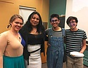 Blogger Sergio Jones '20 and friends at a QTPOC event.