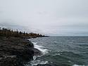 The view of Lake Superior near our campsite.