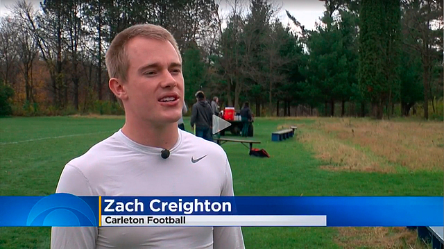 Zach Creighton, football, WCOO-TV story