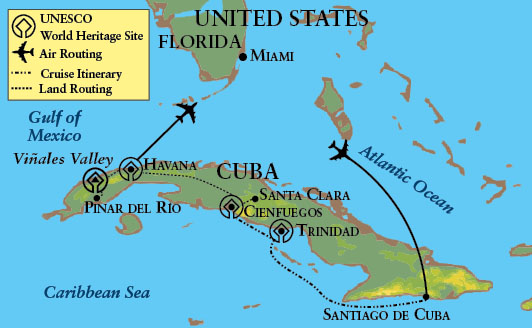 Cuba To Florida Map.Map For The Cuba Departure