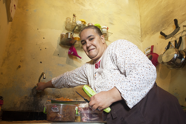 Sanae in her kitchen in the Rabat Medina.