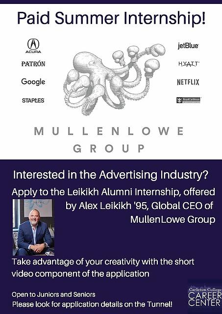 MullenLowe Advertising Internship Deadline | Career Center