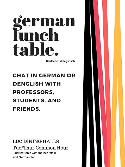 German Lunch Table