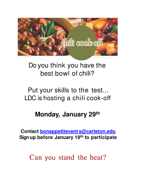 Chili Cook-Off January 2018