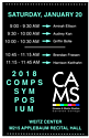 LOCATION CHANGE: CAMS Comps Symposium on Saturday, January 20 at 9:00am