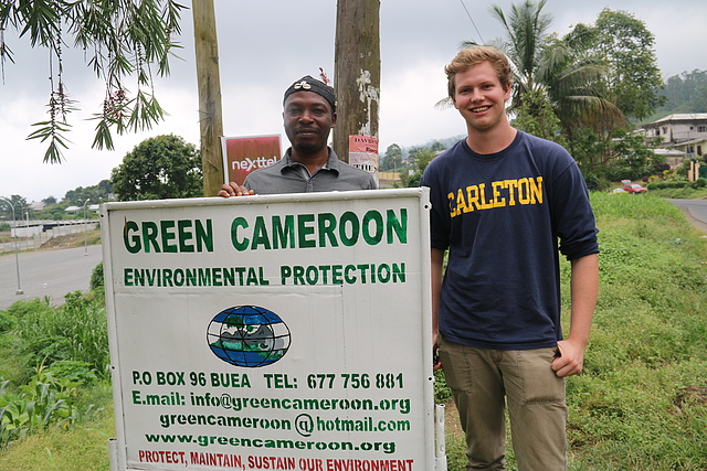 Henry Alexander with Green Cameroon