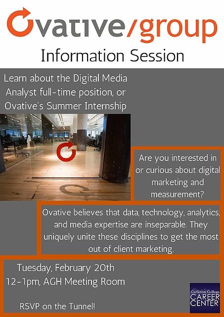 Ovative/group Information Session   Career Center   Carleton
