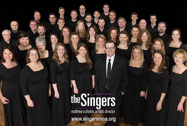 The Singers, with logo