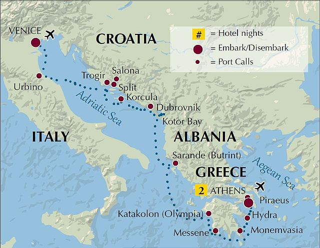 Venice to Athens 9-19 Itinerary map on map of roatan port, map of san francisco port, map of ocho rios port, map of livorno port, map of san pedro port, map of san juan port, map of civitavecchia port, map of fort lauderdale port, map of oakland port, map of charleston port, map of grand cayman port, map of salerno port, map of west palm beach port, map of long beach port, map of honolulu port, map of granada port, map of new york city port, map of dubrovnik port, map of savannah port, map of ft lauderdale port,