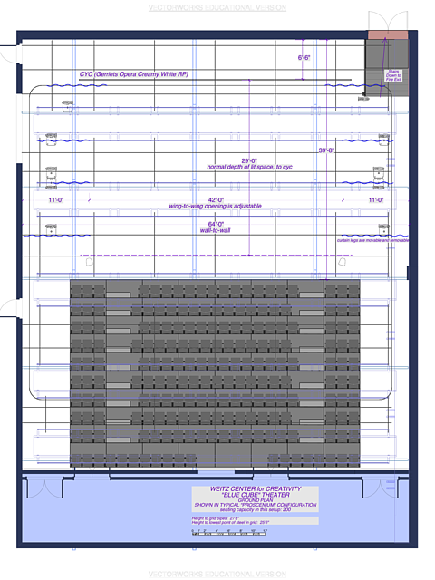 Weitz Black Box Theater Groundplan