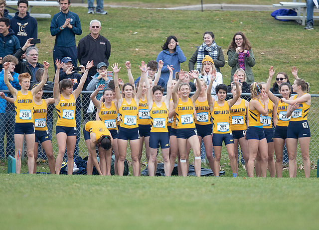 team, women's cross country action, MIAC championship, 2018-10-27