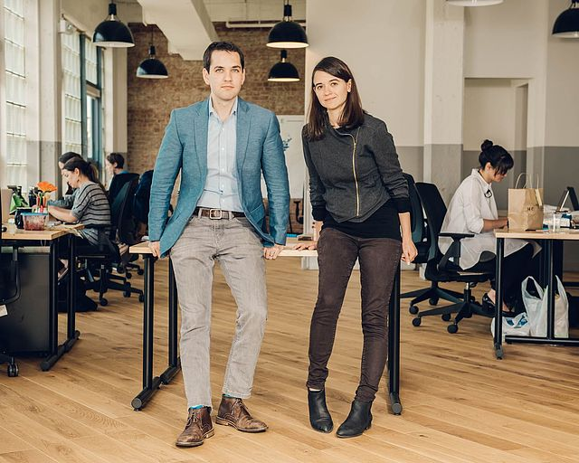 Leah Greenberg '08 and Ezra Levin '07, cofounders of Indivisible