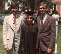 Nancy Gast Riss at graduation, 1977.
