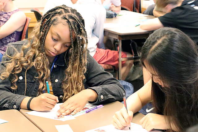 High school students participate in the Summer Writing Institute.