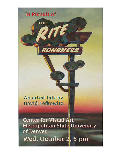 Art Talk poster for David Lefkowitz