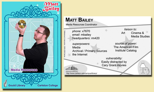 Matt Baileys Trading Card 2005 2006 Gould Library