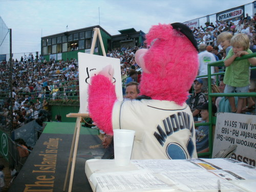 Mascot Mudonna the artist | College Communications ...