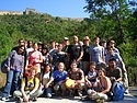 2006 group photo in front of the Great Wall