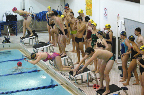 Knights Other Programs Stage Swim A Thon For Cancer Research Varsity Athletics Carleton College