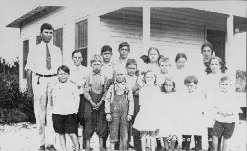 With his students, Boca Raton, 1914-16.