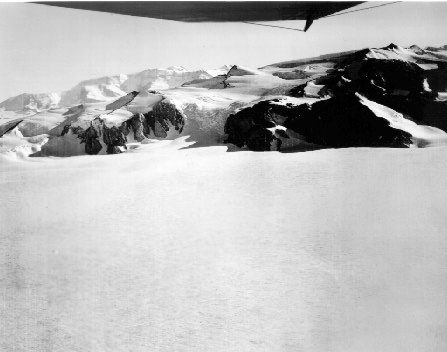 Aerial photograph; Mt. Nansen in the background.
