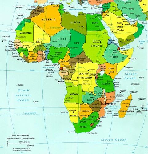 Africa Map 1970s Biofocuscommunicatie