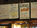 Signs in Sayles (Exit 69 and the Knights)