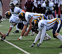Zach Armstrong (#43), Joe Boerma (#65) and Adam Hallbeck (#43)
