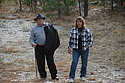 Ellen Haberoth and Ken at the Ingersoll Mine, Black Hills