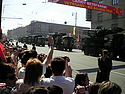 Artillery rolling by during the Victory Day parade