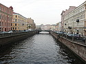 A typical scene along a St. Petersburg canal
