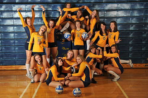 Volleyball Team Has Some Fun With Their Team Photos