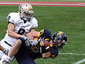 Dylan Bothun gives Carleton its second touchdown against Bethel University.