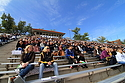A crowd turned out to watch the Knights play Bethel University in Laird Stadium.